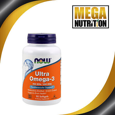 NOW Foods Ultra Omega 3 500 EPA/250 DHA 90 Softgels | Fish Oils Cardio Support