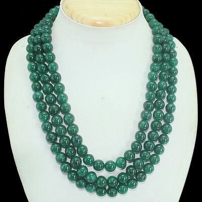 GENUINE TOP DEMANDED 375.00 CTS EARTH MINED RUBY /& EMERALD BEADS NECKLACE $$$