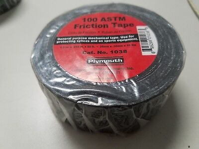 Plymouth 100 astm  Friction Tape, 4 Rolls, FREE SHIPPING!! 1 1/2 x 60 feet