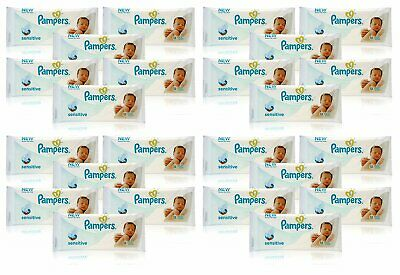 Pampers Sensitive Baby Wipes Travel Size - Case of 24 Packs of 12