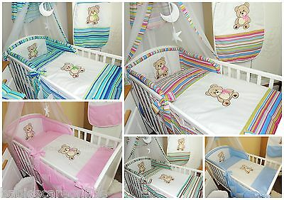 Lovely 5 pcs BABY BEDDING SET/BUMPER/PILLOWCASE/DUVET Cover to fit cot/cot bed
