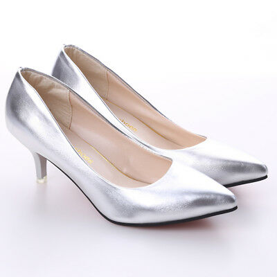 Pumps Summer Shoes Shallow Pointed Toe High- Heeled Shoes Thin Heels 6A