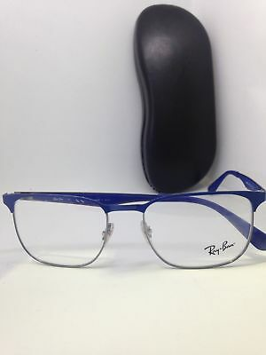 65dd80dea5 NEW Authentic RAY BAN RB 6363 2889 BLUE FRAMES RX EYEGLASSES RB6363 54mm