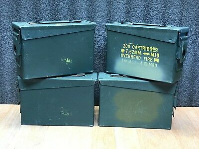 4 Pack | Grade A | High Quality | Empty | 30 Cal | Ammo Can | FREE SHIPPING