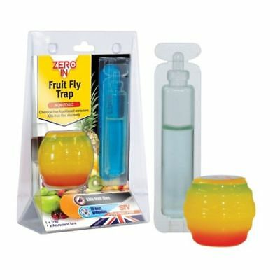 Zero In Fruit Fly Trap Catcher Flying Insect Killer Pest Discreet Chemical Free