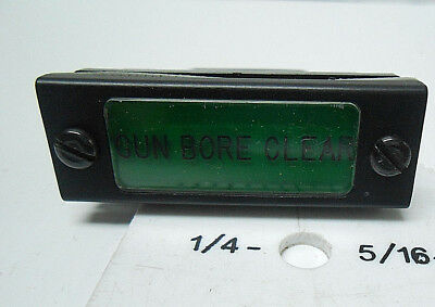 "5189176-011 Pan-A -Lite Products Light Indicator Green ""gun Bore Clear "" Nos"