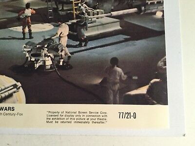 Star Wars Original Luke with Tie fighter rare numbered lobby card 1977