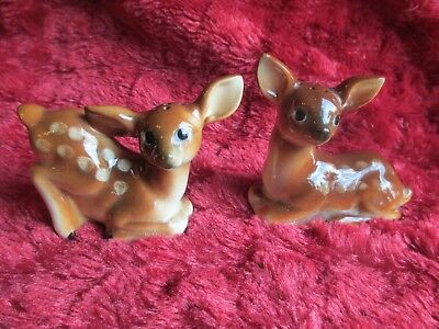 Vintage Pair Of Fawns Salt And Pepper Shakers Made In Japan