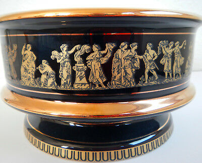 Greek Bowl Black & 24k Gold - Hand Made in Greece