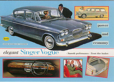 Singer Vogue II 1962 Large Format MODERN postcard by Jenna