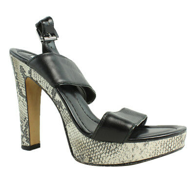 11b66090227 HALOGEN AUDREY ANKLE Strap Sandal Black Size 7 with Box -  49.95 ...