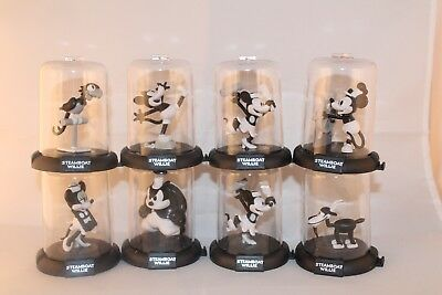 New Domez Disney Mikey Mouse Steamboat Willie Series 1 Complete set of 8