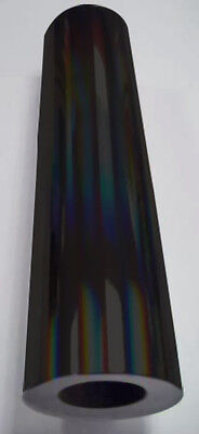 "Holographic Black Rainbow Oil Slick Vinyl 24"" x 6 ft"