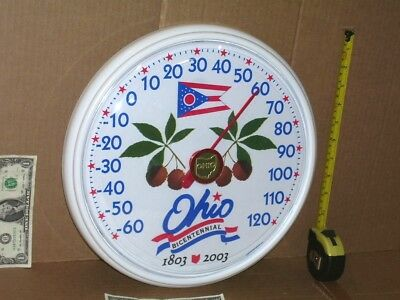 ORIGINAL - Ohio 200 Year Bicentennial THERMOMETER SIGN -1803-2003 - 15 Years Old