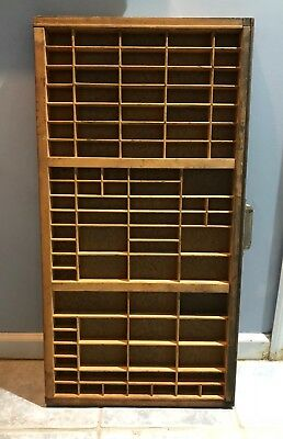 Printer Tray Drawer 90 Sections Large Great for Wall Display Hamilton Vintage