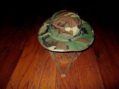 8e939c0a U.s Military Style Hot Weather Boonie Hat Woodland Camouflage Rip-Stop  Medium
