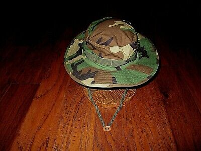 U.s Military Style Hot Weather Boonie Hat Woodland Camouflage Rip-Stop Large