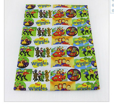 The Wiggles Fabric Poly Cotton 1m x 1.45m (width)