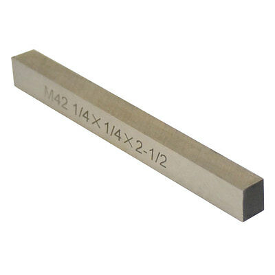 M42 1/4'' x 1/4'' x 2-1/2'' Cobalt Steel Square Tool Bit Lathe Fly Cutter Mill