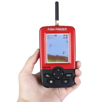 outlife Fish Finder, Portable Fishfinder with Wireless Sonar Sensor and...