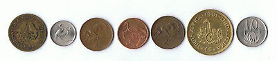 South Africa Old Coins X 7