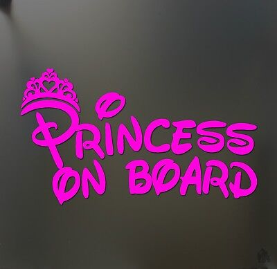 Princess on board sticker JDM funny car pink girl lady love window decal