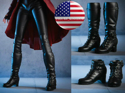 1//6 Black Ankle Boots hollow inside For 12/'/' PHICEN Hot Toys Female Figure ❶USA❶