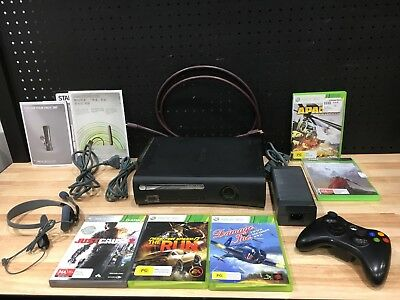 Xbox 360 Elite Includes 5 Games, Controller, Headset, Av & Network Cable, Manual