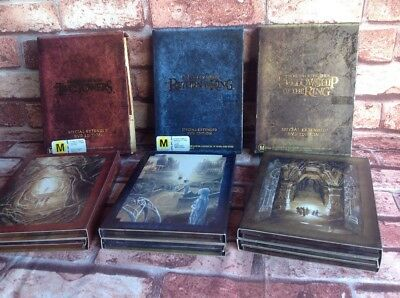 LOTR LORD OF THE RINGS FULL SET OF Special Edition DVD Extended Edition Discs