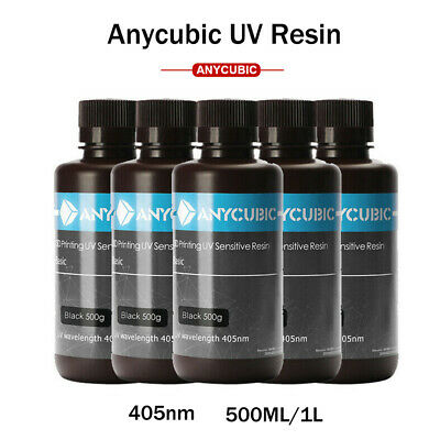 Anycubic 500ml/1L 405nm UV Sensitive Printing Resin For Photon SLA 3d Printer AU