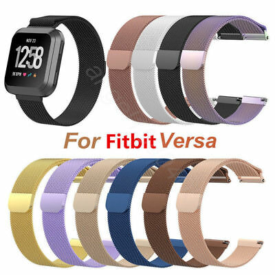 Milanese Loop Stainless Steel Watch Band Strap For Fitbit Versa 2/Lite Magnetic
