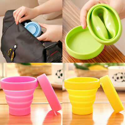 Hot Portable Silicone Telescopic Drinking Collapsible Travel Camping Folding Cup