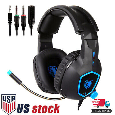 SADES SA818 Stereo Gaming Headsets Headphones for PS4 New Xbox One PC with Mic