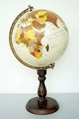 Vintage Replogle  Antique World Globe North Ocean Wood Base Collectible Gift