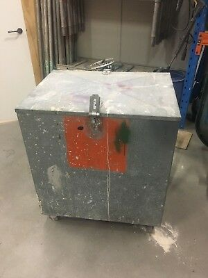 Site Safe Box - 2mm Thick Galvanised Sheet Metal on Castors