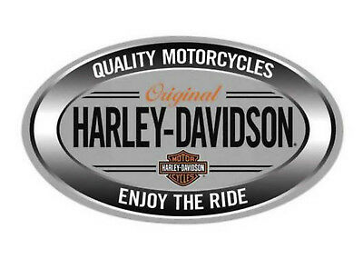 Harley-Davidson® Enjoy The Ride Silver Oval Embossed Tin Sign (18x10.5) 2011591
