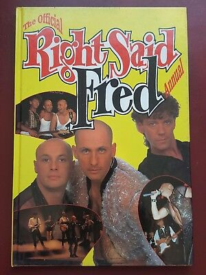 The Official Right Said Fred Annual 1992 Hardback Book