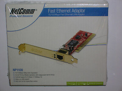 NetComm NP1100 PCI 10/100 Fast Ethernet Adapter NIC - brand new - sealed