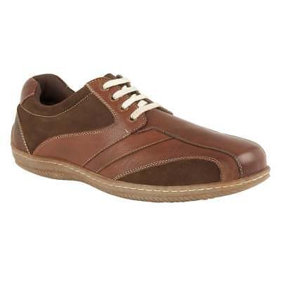 Men's Lotus Corrigan Brown Leather Smart Casual Work office Lace-Up Shoes UK 7