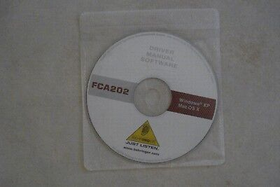 - Driver Manual Software [Fca202] Windows Xp + Mac Os X [Disc] As New
