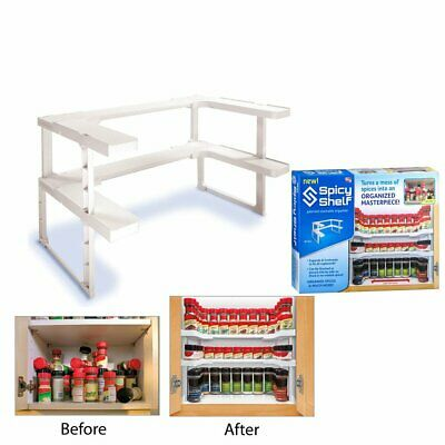 Double Layers Spicy Shelf Patented Spice Rack Stackable Storage Pantry Organizer