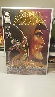 Green Arrow #1.    (Nm)   ~Mike Grell~   First Print.   1988.   (Bv $15.00+)