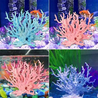 Fish Tank Landscape Aquarium Decor Simulation Water Coral Weeds