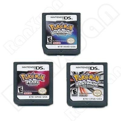 3PCS Pokemon Platinum,Diamond,Pearl Game Cards For 3DS NDSI NDS NDSL USA Ver NEW