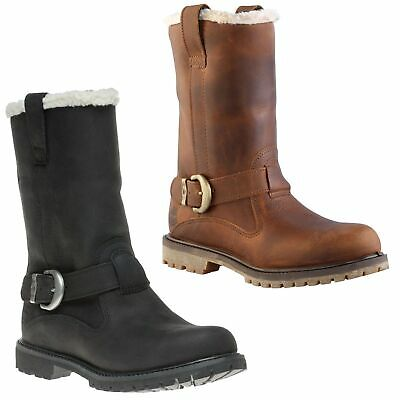 Womens Timberland Nellie Waterproof Pull On Mid Calf Buckle Boots Sizes 3.5 to 9