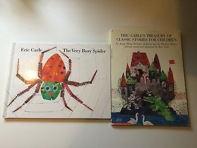 Eric Carle 2-Book Lot! The Very Busy Spider and Treasury of Classic Stories