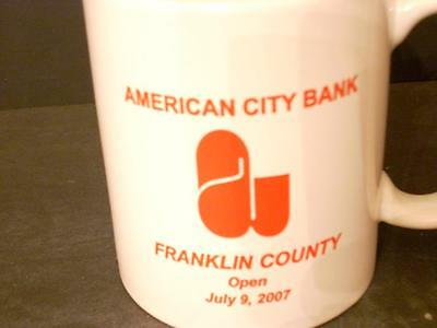 American City Bank Franklin County Tennessee 2007 Coffee Cup Mug (Eg)