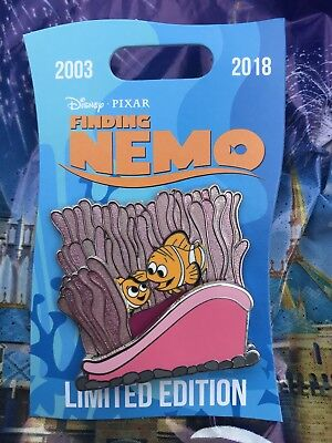 Disney Pin Finding Nemo Nemo and Marlin LE - In Hand 15th Anniversary