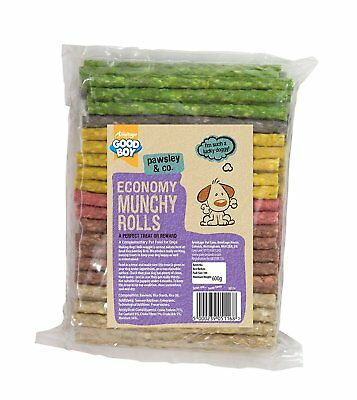 Dog Treat Chews Good Boy Munchy Chews Rolls Pack Of 100 Assorted