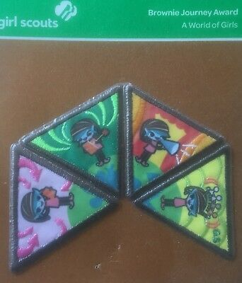 Brownie Journey Award A World of Girls NEW Patch Badge iron-on